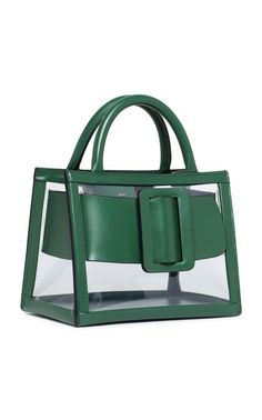 Shop Bobby 23 PVC And Leather Tote. BOYY is proving PVC accessories are here to stay. Fashion Handbags, Fashion Bags, Boyy Bag, Clear Handbags, Transparent Bag, Frame Bag, Clear Bags, Leather Bags Handmade, Vintage Purses