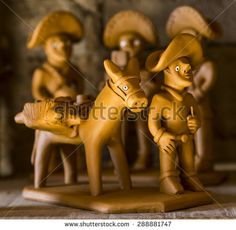 CARUARU, BRAZIL - MAY 6: Clay sculptures representing typical Brazilian Northeast people doing their daily tasks used as decoration and photographed in Caruaru, Pernambuco, Brazil on May 6, 2015.