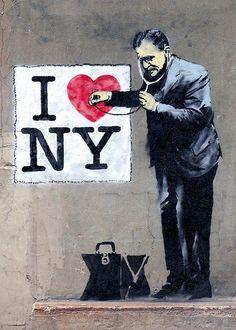 street art by Banksy.  000
