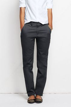 These chinos look comfortable and have a classic style.