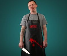 Are you a chef/serial killer? If so, this is perfect for you. Intimidate people who are annoying you while youre grilling with this blood splattered Dexter Apron. Its perfect for fans of the show.