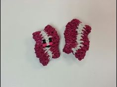 Rainbow Loom - 3D Happy BACON Charm. Designed and loomed by Ellen Carpenter at feelinspiffy. Click photo for YouTube Tutorial. 10/17/14.