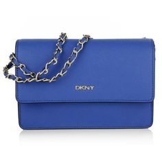 DKNY Shoulder Bags, Bryant Park Bag Electric Blue Handbag ($175) ❤ liked on Polyvore featuring bags, handbags, shoulder bags, blue, royal blue handbag, dkny handbags, handbags purses, shoulder handbags and man bag