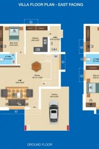 Aashritha - Villa Floor Plan (East Facing)