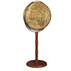 Perched high on its luxurious hardwood stand, the Replogle Commander II Floor Globe demands investigation and admiration. The sizable 16 inch globe is held securely atop its cherry-finish hardwood stand, measuring to be 38 inches tall. Home Decor Accessories, Decorative Accessories, Globes For Sale, Floor Globe, World Globes, Map Globe, Floor Decor, Wooden Flooring, Old World