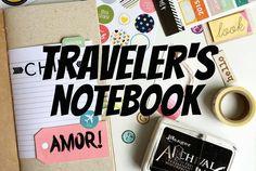 Primeira página do meu traveler's notebook do Chile