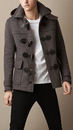 Wool Detachable Hood Duffle Jacket | Burberry
