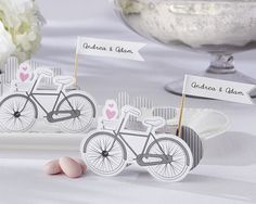 Wedding favors bycicle