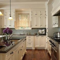 Rehkamp Larson Architects - kitchens - ivory cabinets  Hinges...