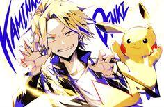 Boku no Hero Academia x Pokemon || Kaminari Denki, Pikachu.