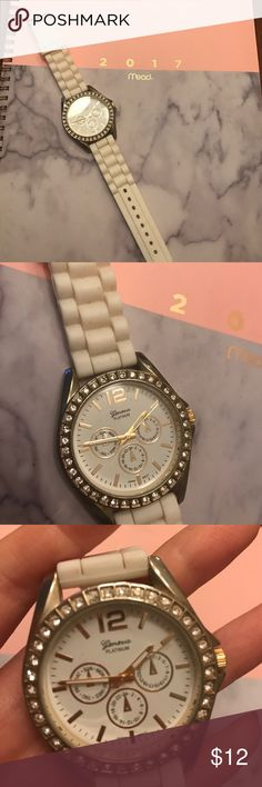 Geneva platinum watch Some signs of wear. Needs a new battery Francesca's Collections Accessories Watches