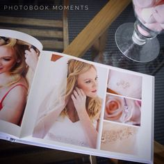 Wedding photobook designed by Photobook Moments. Love the pastel colours and the softness!  www.photobookmoments.com.au