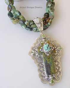 ❥ Southwestern Turquoise Cross Necklace by Schaef Designs Jewelry