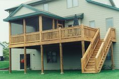 split level house with deck - Google Search