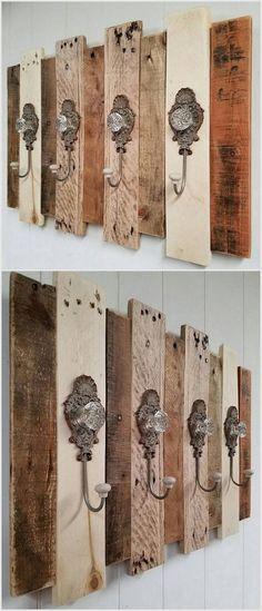 Pallet Shelves Projects The best of wood pallets projects on one board: easy DIY ideas, Furniture, Home décor, outdoor Pallet Coat Racks, Diy Coat Rack, Pallet Shelves, Diy Rack, Pallet Cabinet, Cabinet Plans, Wall Coat Rack, Rustic Coat Rack, Wood Shelf
