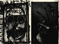 Marcus Rees Roberts, 2015, Drowning Dog,Etching, aquatint and drypoint, one plate with chine collé. Edition of 15 plus 2 artist's proofs 1 publisher's proofs, and 1 archive proofdrypoint and chine colle - Google Search