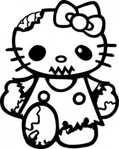 Hello Kitty Zombie Decal- WANT
