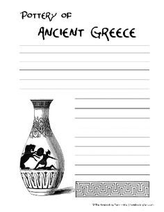 greek pottery and patterns worksheet ancient greece for kids pinterest caves pottery and. Black Bedroom Furniture Sets. Home Design Ideas