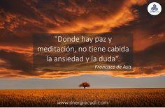 Paz y meditación.