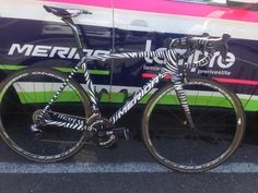 Foto: la bici cebra de Merida para Rafa Valls en la Amstel / Profesionales