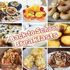 Great ideas for easy back-to-school breakfasts!