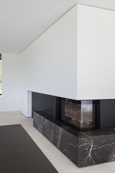Fire place in Tempory Brown - Residence in Diksmuide Belgium by Projectvijf