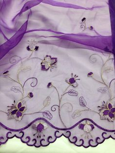 Item: 2 Yards, Beautiful Butterfly Design on Double Bordered Scalloped Organza Beautiful Butterflies, Beautiful Flowers, Fabulous Fabrics, Butterfly Design, Cutwork, Ivory White, Mesh Fabric, Lace Trim, Doll Clothes