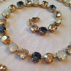 Swarovski Necklace (Blue, Gold, Opal) on Etsy, $65.00 (sabika inspired)