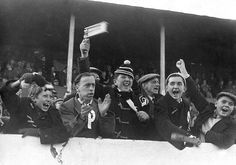 Supporters at an Arsenal v Barnsley FA Cup tie in the 1930's  #afc #BFC  #FACup  #fans