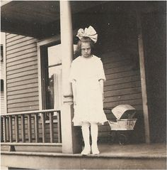 antique photo of a mean little girl with big by vintagewarehouse, $3.50