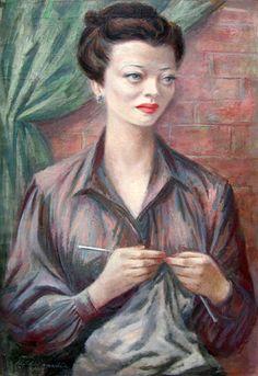Sylvia Sidney. Artist: Fletcher Martin. Year: Probably around 1945. (Bizarre Los Angeles)