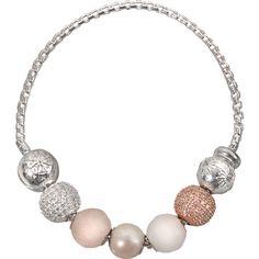 Thomas Sabo Karma Beads Quartet Bracelet ($415) ❤ liked on Polyvore featuring jewelry, bracelets, silver, thomas sabo, thomas sabo jewelry, thomas sabo jewellery, beaded jewelry and bead jewellery