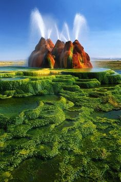 Fly Ranch Geyser, Nevada Planning on a road trip visit www.motorclubgetsitright.weebly.com and make sure your covered