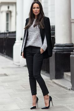 30 Decent Yet Chic Winter Outfits for Work AND School ...