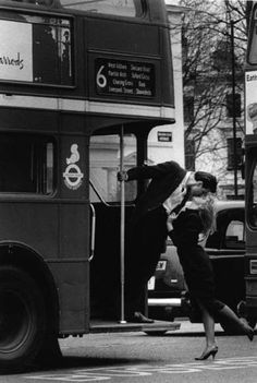 A kiss on the no, 6 bus, London. @Deidré Wallace