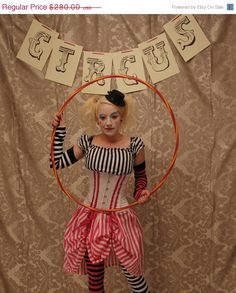 Halloween Sale Circus Clown Corset Costume Oufit-Whole Corset Costume Outfit-MADE FOR BUYER