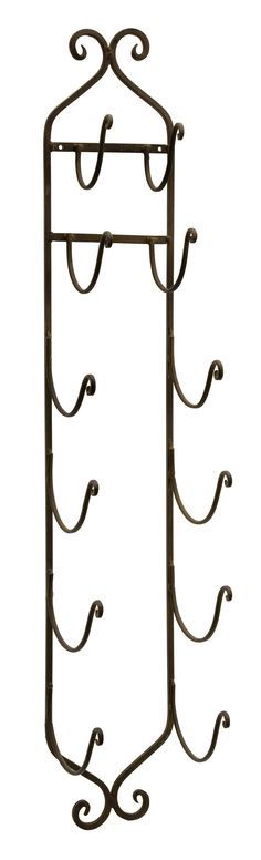 Rustic Iron Wall Rack This unique metal wall rack is extremely versatile. Perfect in the kitchen for organizing utensils, great in the bar to hold a collection of wine bottles and perfect in the bathr