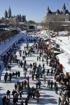 rideau canal, ottawa - One of many best times with my family when we would vacation in Canada and skate on the canal!