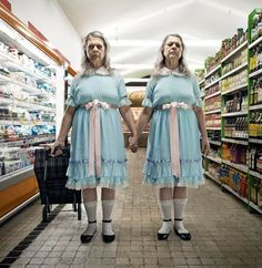 """What if the most scary film horror characters were still alive now? Federico Chiesa and Carolina's photography project """"Horror Vacui"""" and the terrifying Shining twins. Scary Movies, Horror Movies, Mad Movies, 80s Movie Characters, Horror Vacui, The Shining Twins, Shining 2, Horror Villains, Boring Day"""