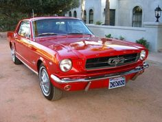 '65 Mustang  - ooohhh - love - my dad a green muscle car version of the mustang -