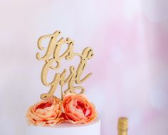 Baby Cake Topper-It's A Girl-Baby Shower Cake Topper