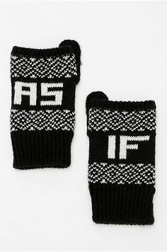 Urban Outfitters As If Fingerless Glove for $16 / 20 Awesome Gifts Under $20 That Seem More Expensive Than They Are (via BuzzFeed) - Knitting idea!!