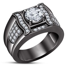 Wonderful Black Gold Jewelry For Beautiful Pieces Ideas. Breathtaking Black Gold Jewelry For Beautiful Pieces Ideas. Italian Gold Jewelry, Real Gold Jewelry, Gold Jewellery, Gold Fashion, Fashion Rings, Mens Gemstone Rings, Gents Ring, Engagement Rings For Men, Silver Rounds