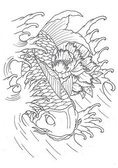 Koi Fish Adult Coloring Pages Free coloring pages for adults