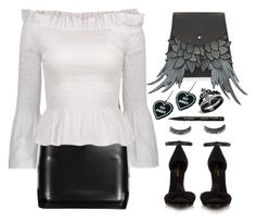 """""""Street Style"""" by simona-altobelli ❤ liked on Polyvore featuring Yves Saint Laurent, Smith & Cult and Witch Worldwide"""
