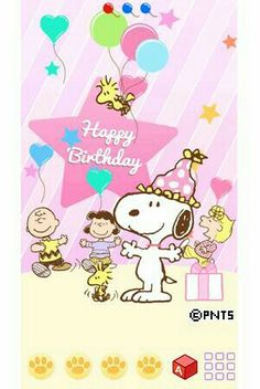 Free Happy Birthday Cards, Cute Birthday Wishes, Happy Birthday Art, Happy Birthday Celebration, Happy Birthday Messages, Happy Birthday Images, Happy Birthday Greetings, Handmade Birthday Cards, Snoopy Birthday Images