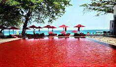 Piscina del resort di lusso The Library in Thailandia