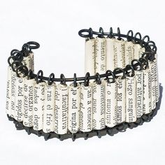 Cute paper bead bracelet!