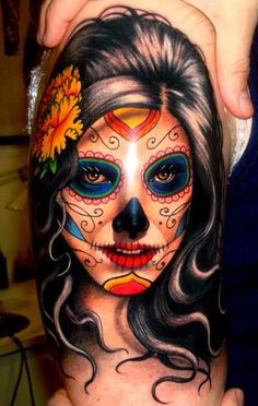 Day of the dead / sugar skull #art #ink #tattoo