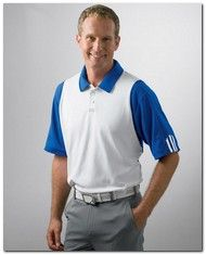 $11.33 > Adidas Golf A77 Men's ClimaLite Colorblock Polo - Available Colors: 3, Size Range: S - 3XL
